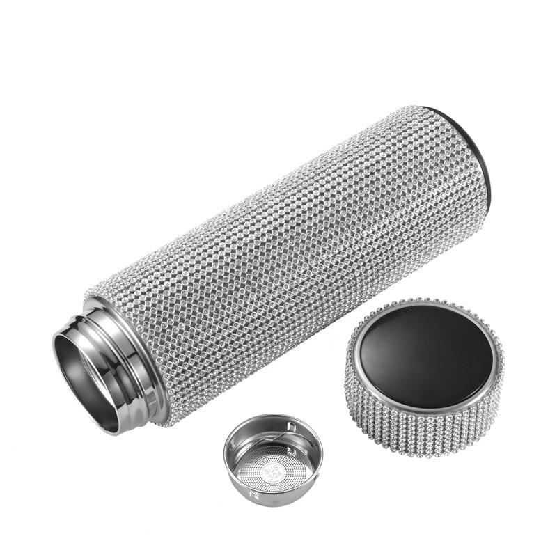 Diamond Smart Temperature Display Stainless Steel Vacuum Seal Thermos Bottle